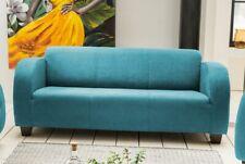 Sofa 3-Sitzer 3er Dreisitzer Couch Clubsofa Wellenunterfederung Petrol 39030
