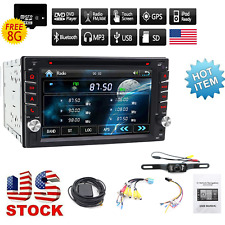 "Backup Camera Bluetooth InDash Car CD DVD Player Stereo Radio 6.2"" 2 DIN GPS Nav"