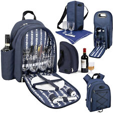 GEEZY Denim Picnic Cooler Bag Backpack Wine Bottle Insulated Picnic Cool Carrier