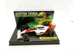 Mclaren Honda V10 MP4/5 Ayrton Senna #1 1989 1/43 MINICHAMPS F1 Formula 1