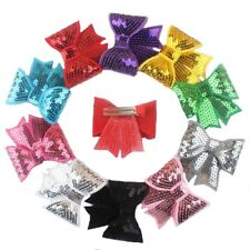 5Pcs/Set Larger Hair Bows Clip With Sequins Hair Accessories For Women And Girls