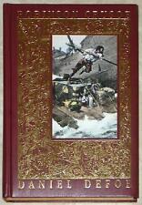 ROBINSON CRUSOE ~ DANIEL DEFOE ~ LEATHER GIFT EDITION ~ ILLUS GRANDVILLE ~ HC