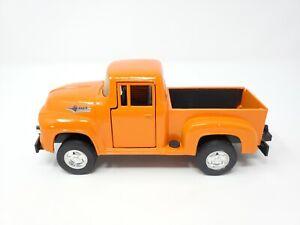 Tootsie Toy Ford 1956 F-100 Pickup 4x4 Hard Body 1/24 Diecast Orange