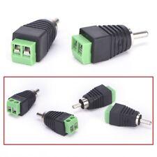 2 x Mâle RCA Connecteur Adaptateur Prise 2 x Male RCA Connector Adapter Jack