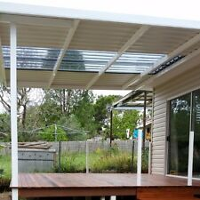 Pergola Kit 8m×3m Colorbond® + PC Roof, Wall Attached