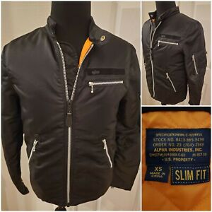 Alpha Industries Slim Fit Black Size XS Pilot Jacket