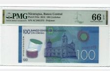 2014 NICARAGUA 100 Cordobas PMG66 EPQ GEM UNC '1st Prefix A' @PMG ERROR AC (A0)