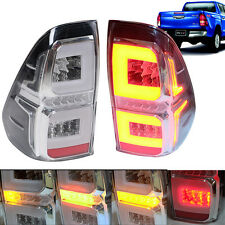 2015+ For Toyota Hilux Revo M70 M80 Pickup Tail Lamp Lights LED Smoke Fog Red LR