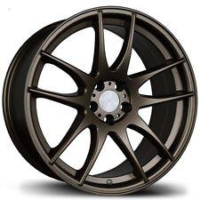 17X8/9 Avid.1 AV32 5x114.3 +35/30 Bronze Rims Fits S2000 Rx8 Is250