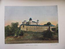 POLOGNE AUTRICHIENNE:Gravure 19°in folio couleur/CHATEAU DE BENDZINIE