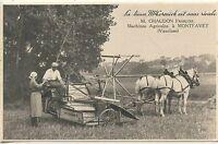 CARTE POSTALE / LE LIEUSE Mc. CORMICK / MACHINE AGRICOLE A MONTFAVET