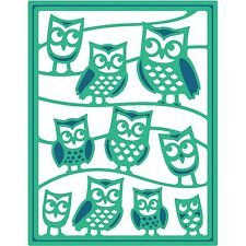 SPELLBINDERS SHAPEABILITIES IT'S A HOOT OWLS DIE - CUT EMBOSS STENCIL S4-459