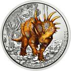 Österreich 3 Euro Münze 2021 Styracosaurus Super-Saurier in gratis Münzkapsel