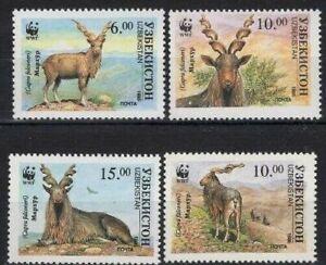 10x Uzbekistan WWF Timbres Briefmarken MNH** - Wholesale!