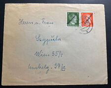 1945 Vienna Austria Post War Provisional Stamp Cover Locally Used