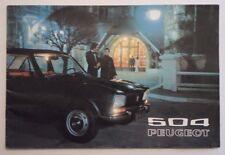 PEUGEOT 504 SALOONS orig 1972 UK Mkt Sales Brochure