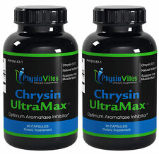 2 Bottles PV Chrysin UltraMax Supports Lean Muscle Mass ZMA Tribulus Isoflavones