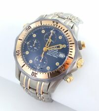 Omega Seamaster Chronograph Diver Men's Watch Titanium Steel/Rose Gold