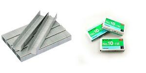 3000 x Staples No.10 5mm Office School Paper Document Mini Stapler Pack 3 x Box