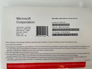 Genuine MlCROSOFT WlNDOWS 10 Home 64-bit DVD + Product Key (KW9-00140)