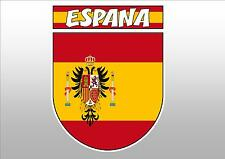 SPAIN ESPANA  FLAG CREST CAR WINDOW STICKER DECAL