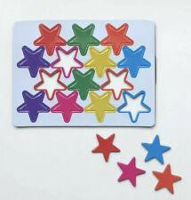 14 FRIDGE MAGNETS STARS WHITEBOARD OFFICE REWARD CHART 7 ASSORTED COLOURS