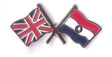 union jack paraguay  friendship lapel badge united kingdom