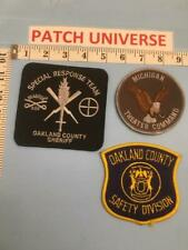LOT OF 3 DIFF OAKLAND COUNTY  SHOULDER PATCHES        F067