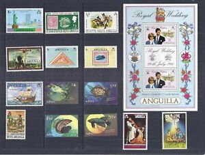 F893 St Kitts Nevis & Anguilla  / A Small Collection Early & Modern Umm & Lhm