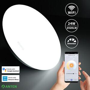 WIFI LED Deckenleuchte Dimmbar Farbwechsel Smart Home Google Alexa Deckenlampe