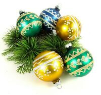 Lot Glittered Shiny Brite Ornaments USA Made Vintage