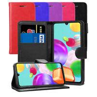 For Samsung Galaxy A41 Case - Magnetic Leather Wallet Flip Case Folio Back Cover