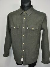 LEVI'S  WARM LINEN STURDY BUTTON UP SHIRT JACKET GREEN  size M
