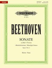 BEETHOVEN - Moonlight Sonata Urtext Peters Edition Piano Book *NEW* Sheet Music