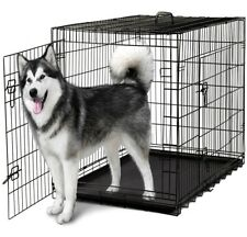 "Heavy Duty Dog Crate Xl Large Cage 48"" Door Divider Handle Pet Animal On Sale"