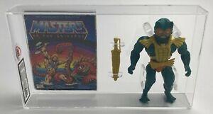 MOTU Vintage Loose Mer-Man with Comic Series 1 Taiwan Mattel 1982 AFA UKG 80%