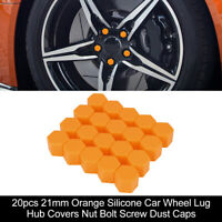 23MM Wheel Nut Covers Lug Nut Center Covers M10 Screw Cover Protector Black