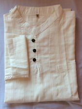 CHEMISE COL MAO BLANC CASSE 100 % COTON m longue Homme shirt angkor Cambodge