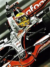 Lewis Hamilton 90 x 70 cms limited edition F1 art print by Colin Carter