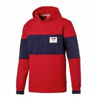 Puma Rebel Block Fleece Hoodie Pullover Sweatshirt Jumper Red 852400 12 X44A