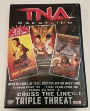 TNA CROSS THE LINE Vol 3 - TRIPLE THREAT DVD 3 disc set wrestling wwe roh nxt