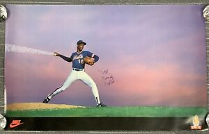 Dwight Doc Gooden Signed Nike Poster 23x36 Dr. K Baseball Mets Autograph WSC TPG