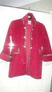 Disney Authentic Boys/Girls Burgundy Velvet Jacket Size M