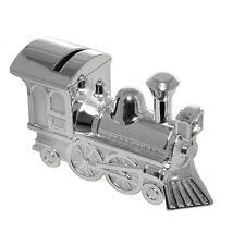 Silver Plated Money Box Locomotive Train Baby Christening Baby Shower Gift