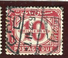 EGYPT; 1921 early Postage Due fine used 10m. value