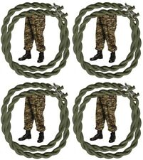 Army Military Trousers Pants Green Elastic Blousing Garter / Straps Lot Of 4