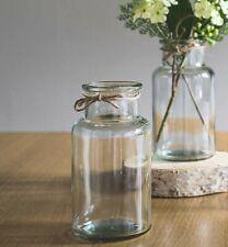 SHABBY CHIC FLOWER VINTAGE STYLE GLASS BOTANICAL BUD VASE JAR ~  HOME & WEDDING