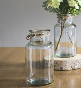 SHABBY CHIC FLOWER VINTAGE STYLE GLASS BOTANICAL BUD VASE JAR ~  HOME & WEDDING