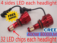 CREE 400W 80000LM headlight kit H4 H7 H11 9005 9006 6000K White Light Bulb Lamp