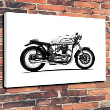 "Triton Cafe Racer Vintage Printed Canvas Picture A1.30""x20"" - 30mm Deep Norton"